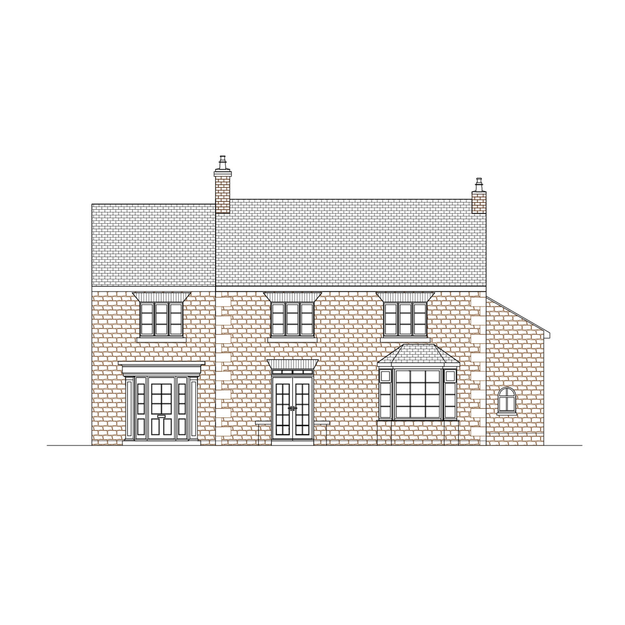 Proposed House Extension Elevation Fulwood Sheffield