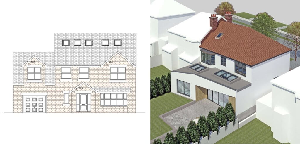 A comparison between 2D and 3D architectural drawings
